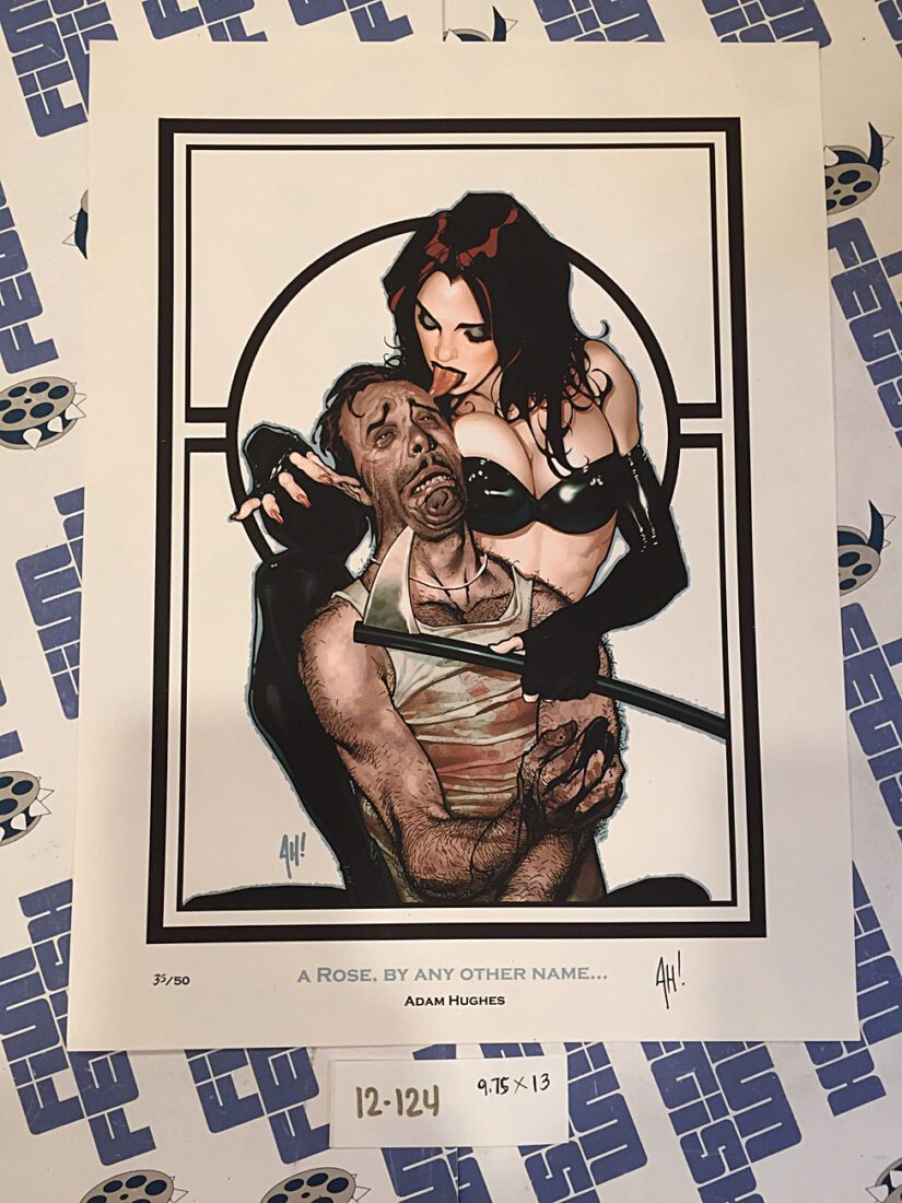 """Adam Hughes Signed and Numbered 10×13 inch Print """"A Rose By Any Other Name"""" [12124]"""