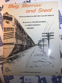 Beg, Borrow and Steal Original Sheet Music Notes Recorded by The Ohio Express (1967) [271]