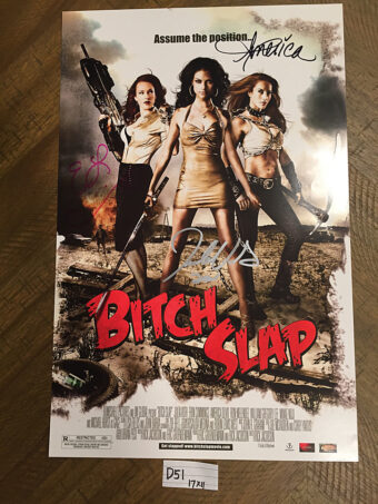 Bitch Slap Original 11×17 inch Movie Poster Autographed by America Olivo, Julia Voth and Erin Cummings (2009) [D51]