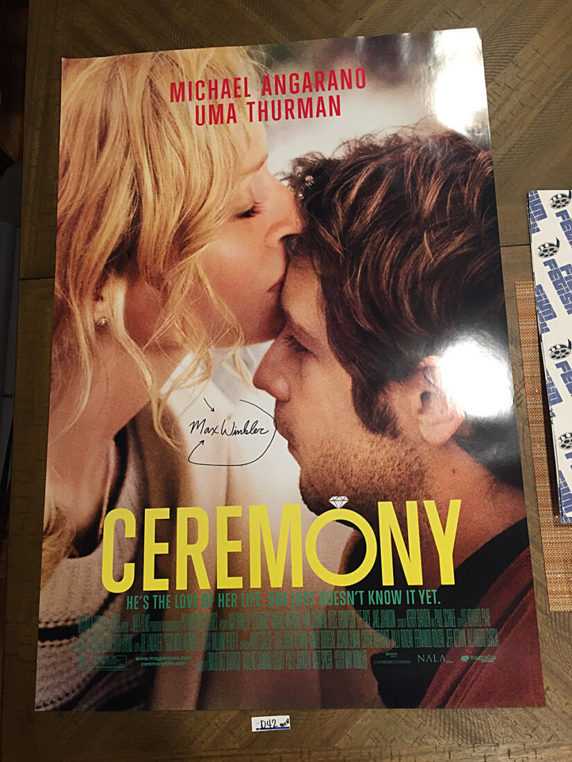 Ceremony 27×40 inch Original Double-Sided Movie Poster (2010) Autographed by Director Max Winkler