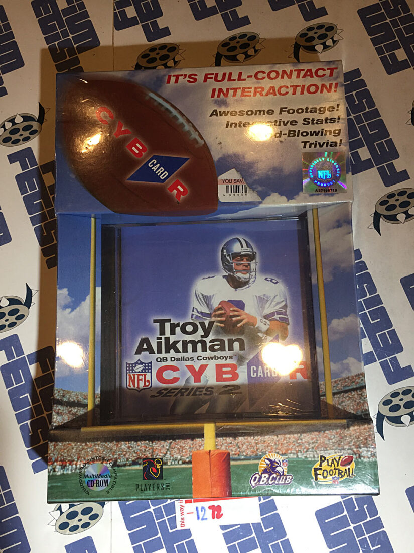 Troy Aikman Cybercard 1997 Interactive CD Card Series 2 Dallas Cowboys Sealed with Box [1272]