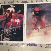 Elektra Assassin Set of 2 – 13×19 inch Bill Sienkiewicz Matte Finish Comic Art Prints [I71]
