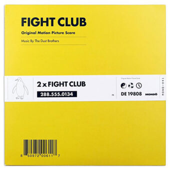 Fight Club Original Motion Picture Score 2LP Vinyl Mondo Edition – Music by The Dust Brothers