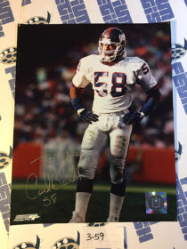 New York Giants Linebacker Carl Banks No. 58 Autographed Photo Official Photo File Emboss [359]