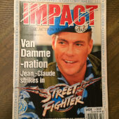 Impact Magazine (June 1995) Jean-Claude Van Damme with Street Fighter Pullout Poster [C11]