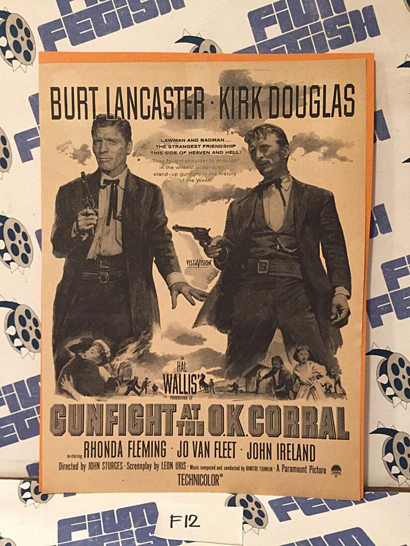 Gunfight at the O.K. Corral Original Magazine Ad Insert [F12]