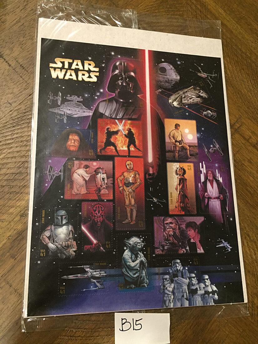 Star Wars USPS Commemorative 41 Cent Postage Stamp Sheets