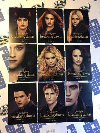 The Twilight Saga: Breaking Dawn Part 2 Set of 9 Character Trading Cards Comic Con Exclusive (2012) [01010]