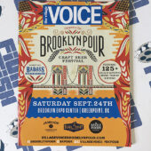 RARE The Village Voice Brooklyn Pour Craft Beer Festival 4×6 inch Promotional Guide (September 24, 2016) [A08]