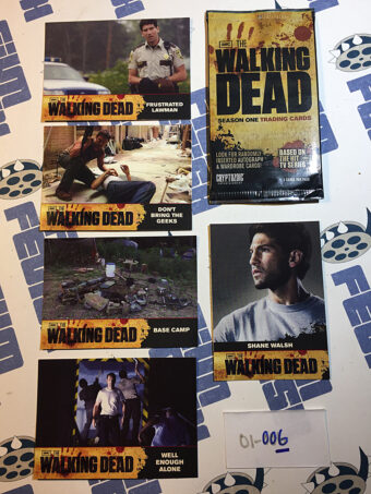 The Walking Dead Season One Set of 5 Trading Cards with Sleeve Cryptozoic (2011) [01006]