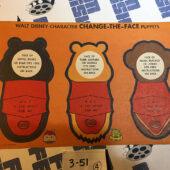 Vintage Walt Disney Character Change-the-Face Puppets Sheets – Set of 4 [351]
