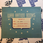 Original War Ration Book Envelope and Food Ration Certificate (1943)