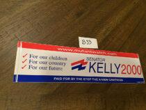 X-Men Movie Senator Kelly Campaign Promotional Bumper Sticker (2000) [B33]