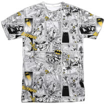 DC Comics Batman Black and Yellow Two-Tone Print BM2298