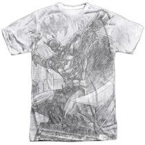 DC Comics Batman Batarang Throw Pencil Sketch Print BM2349