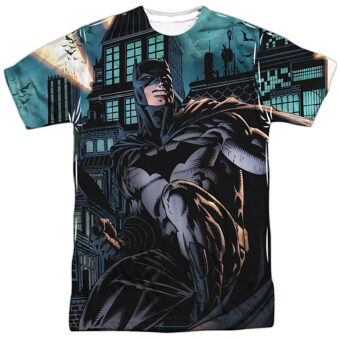 DC Comics Batman In Front of Buildings T-Shirt BM2494