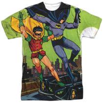 Classic Batman and Robin Make Their Getaway T-Shirt BM2578