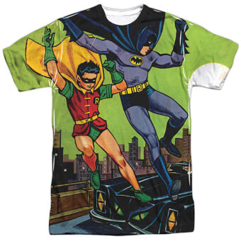 Classic Batman and Robin Make Their Getaway T-Shirt BM2578