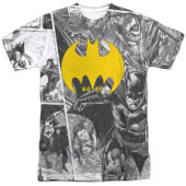 DC Comics Batman 80th Anniversary Collage T-Shirt BM2945