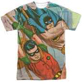 Classic Batman and Robin Nightly Patrol Action T-Shirt BMT137