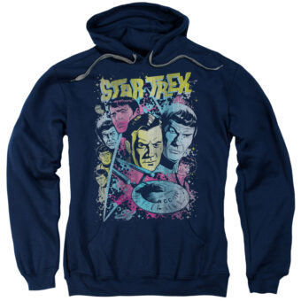 Star Trek: The Original TV Series Classic Crew Illustration Pullover Hoodie CBS1151-AFTH