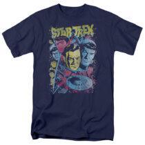 Star Trek: The Original TV Series Classic Crew Illustration T-Shirt CBS1151-AT