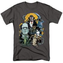 Universal Monsters Portrait Collage Mash Up T-Shirt UNI1266