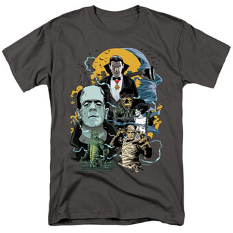 Universal Monsters Portrait Collage Mash Up T-Shirt UNI1266