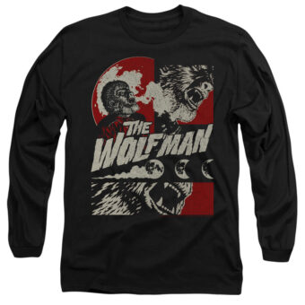 When The Wolf Man Blooms Long Sleeve T-Shirt UNI1269-AL