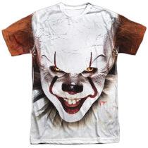 It Film Pennywise Full Coverage Portrait T-Shirt Design WBM877