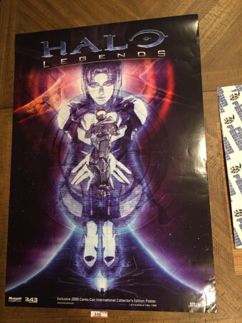Halo Legends Exclusive 2009 San Diego Comic-Con International Collector's Edition Gaming Poster No. 7 of 7 [D08]