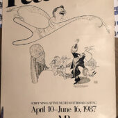 Peter Pan Screenings at Museum of Television & Radio Broadcasting 20×28 inch Promotional Poster by Al Hirschfeld (1987) [C87]