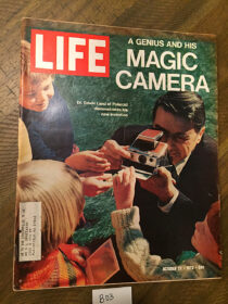 Life Magazine (October 27, 1972) Dr. Edward Land: A Genius and His Magic Camera, Polaroid [B03]