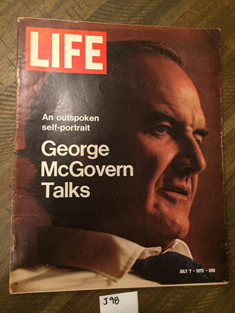 Life Magazine (July 7, 1972) George McGovern Self-Portrait Cover [J98]