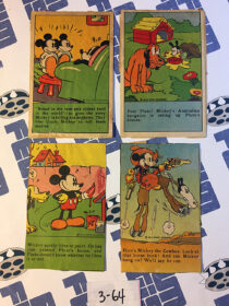Set of 4 Travis Quality Bread Products Vintage Mickey Mouse Comic Newspaper Advertising Spots [364]