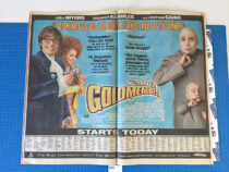 The New York Times Austin Powers Goldmember/Men in Black 2 Original Full Page Newspaper Ads (July 26, 2002) [A21]