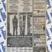 The New York Times Blood Work/Martin Lawrence Live Original Full Page Newspaper Ads (August 9, 2002) [A22]