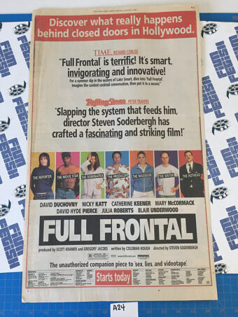 The New York Times Full Frontal/The Kids Stay in the Picture Full Page Newspaper Ads (August 2, 2002) [A24]