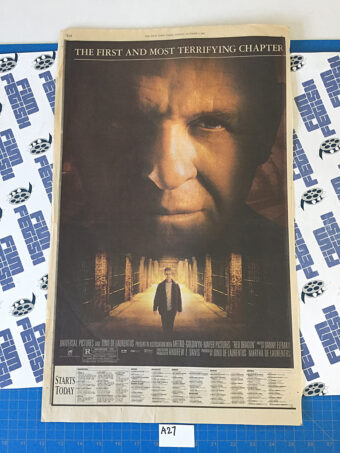 The New York Times Red Dragon Full Page Newspaper Movie Ad (October 4, 2002) [A26] [A27]