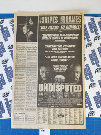 The New York Times Undisputed Full Page Newspaper Movie Ad (August 23, 2002) [A30]