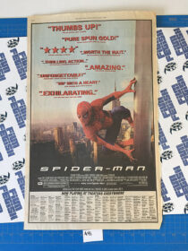 The New York Times Spider-Man Full Page Newspaper Movie Ad (May 17, 2002) [A41]