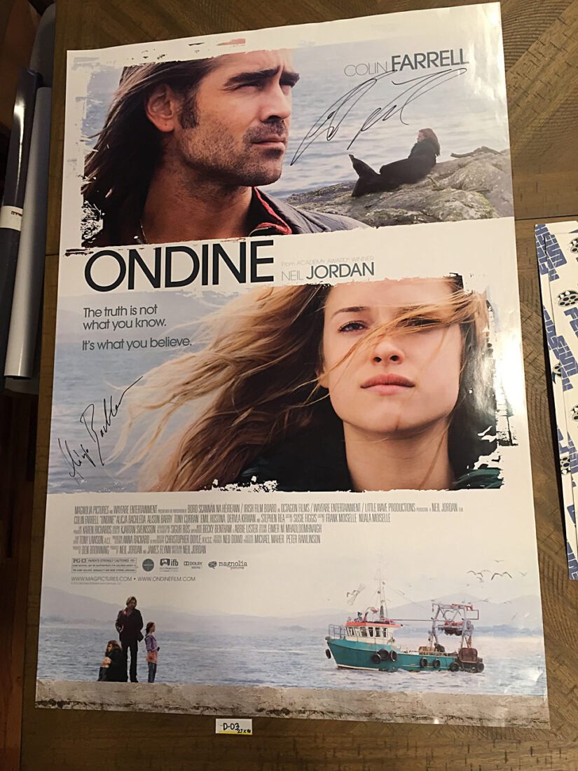 Ondine Original 27×40 inch Movie Poster Autographed by Colin Farrell and Alicja Bachleda (2009) [D03]