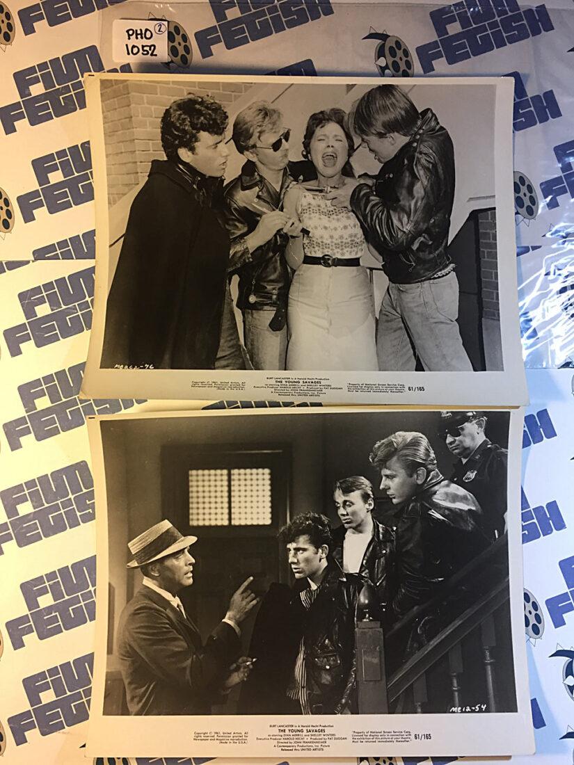 Set of 2 The Young Savages 8×10 Original Press Photos (1961) Burt Lancaster, John Frankenheimer [PHO1052]