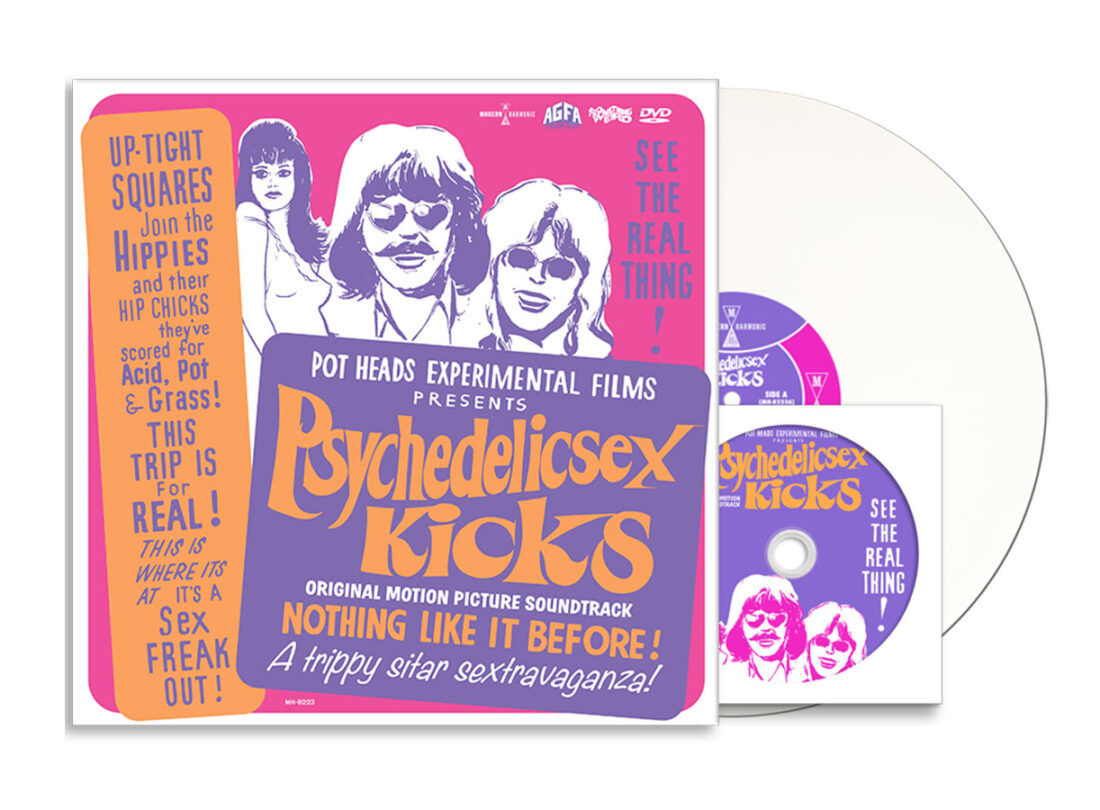 Psychedelic Sex Kicks Original Motion Picture Soundtrack Limited Vinyl Edition with Bonus DVD