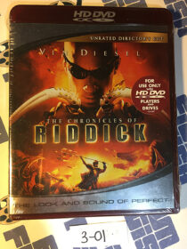 SEALED The Chronicles of Riddick Unrated Director's Cut HD DVD Edition (2006)