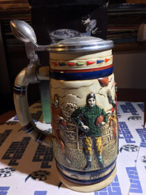 Great American Football Ceramic Stein with Box (1983)