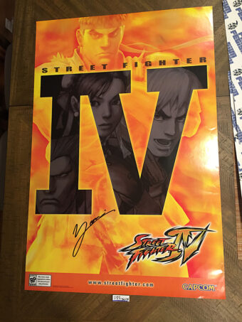 Street Fighter IV 24×36 inch Original Video Game Poster SIGNED by Yoshinori Ono SDCC