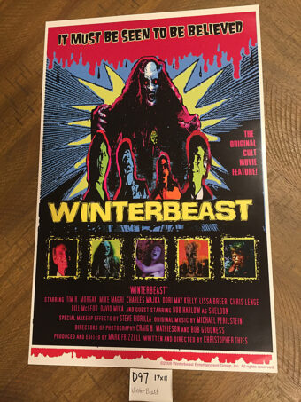 Winterbeast Original 11×17 inch Movie Poster (1992) Cult Horror [D97]