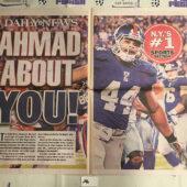 New York Daily News Cover – Super Bowl XLVI Coverage, Ahmad Bradshaw Giants vs. New England Patriots (2012) [J46]
