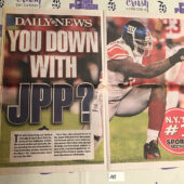New York Daily News Cover – Super Bowl XLVI Coverage, Jason Pierre-Paul Giants vs. New England Patriots (2012) [J47]
